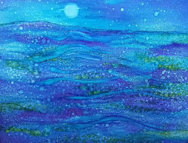 Painting - Midnight Swim by Betsy Carlson Cross