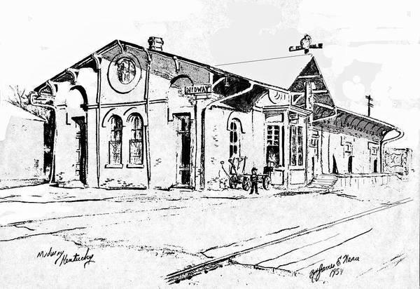 Drawing - Midway Depot by David Neace