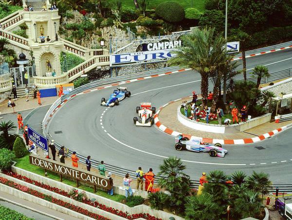 Photograph -  Mika Hakkinen At Monaco Gp by John Bowers