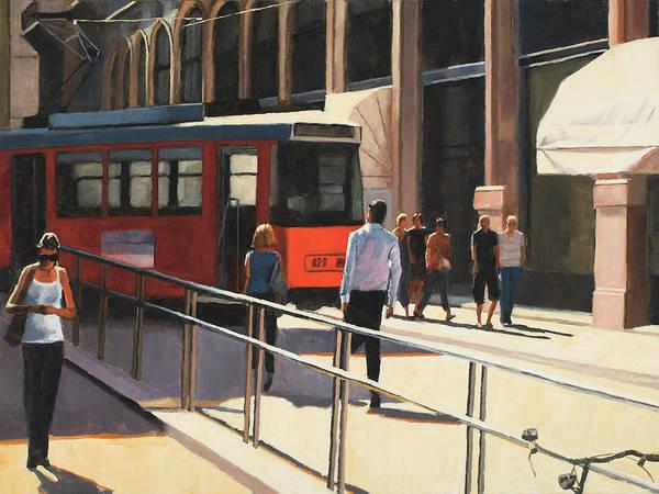 Wall Art - Painting - Milan Trolley by Tate Hamilton