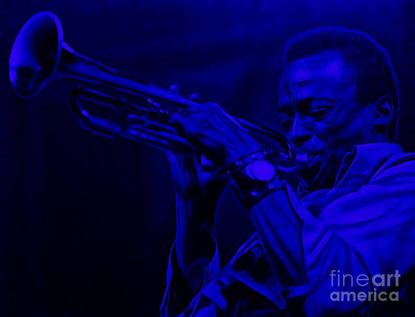 Trumpet Mixed Media - Miles Davis Collection by Marvin Blaine
