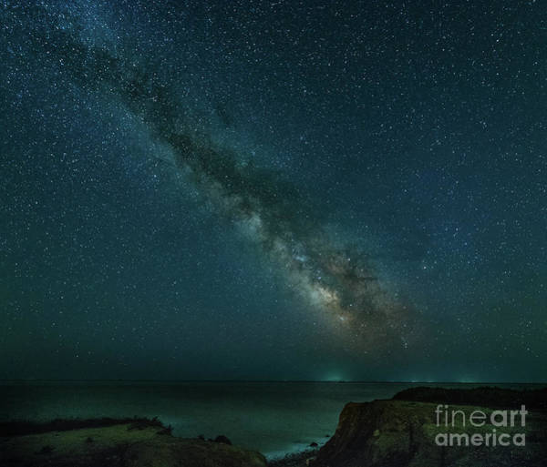 Photograph - Milkyway Over The Bluffs In Montauk, Ny by Alissa Beth Photography