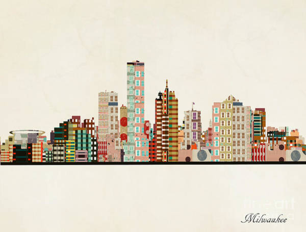 Wall Art - Painting - Milwaukee Skyline by Bri Buckley