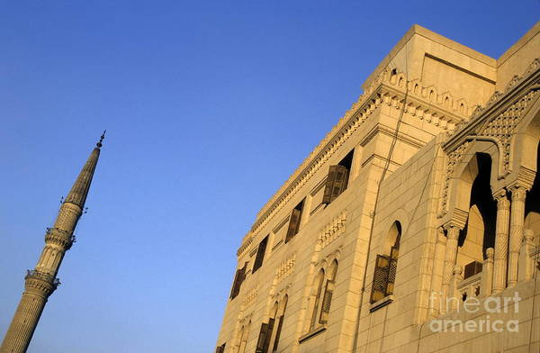 Wall Art - Photograph - Minaret And Exterior Of The Al-hussein Mosque by Sami Sarkis