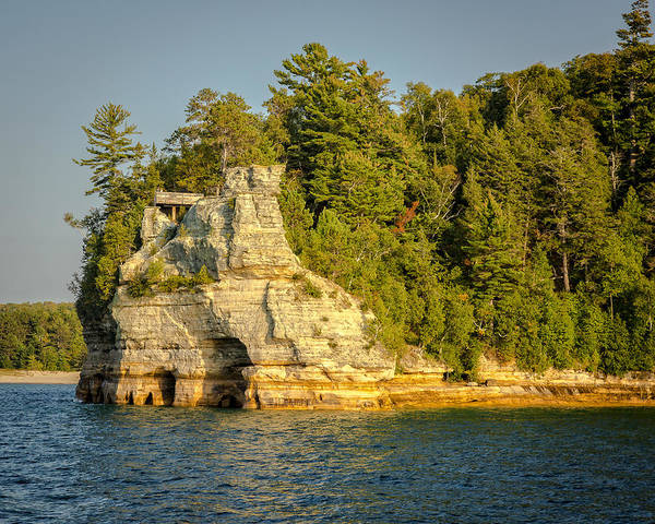 Photograph - Miners Castle by Jack R Perry