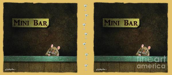 Painting - Mini Bar... by Will Bullas