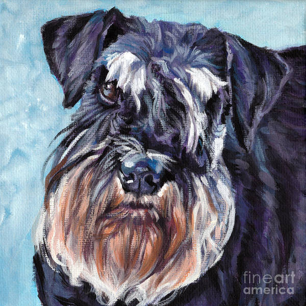 Wall Art - Painting - Miniature Schnauzer by Lee Ann Shepard
