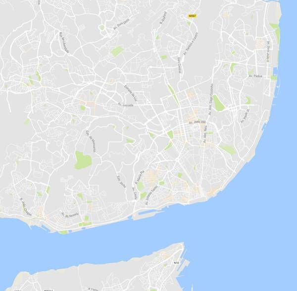 Painting - Minimalist Artistic Map Of Lisbon, Portugal 4 by Celestial Images