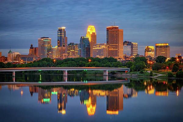 Berk Wall Art - Photograph - Minneapolis Twilight by Rick Berk