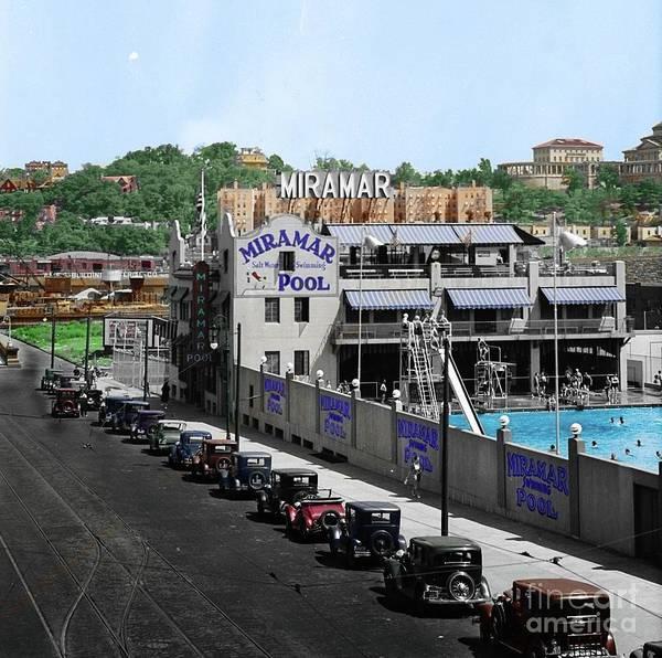 Photograph - Miramar Pool, 1932 by Cole Thompson