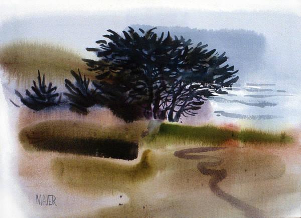 Juniper Wall Art - Painting - Miramonte Beach by Donald Maier