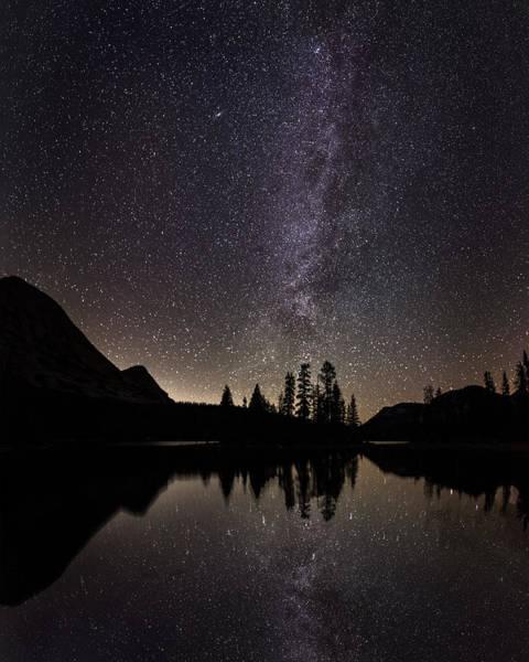 Mirror Lake Milky Way Art Print
