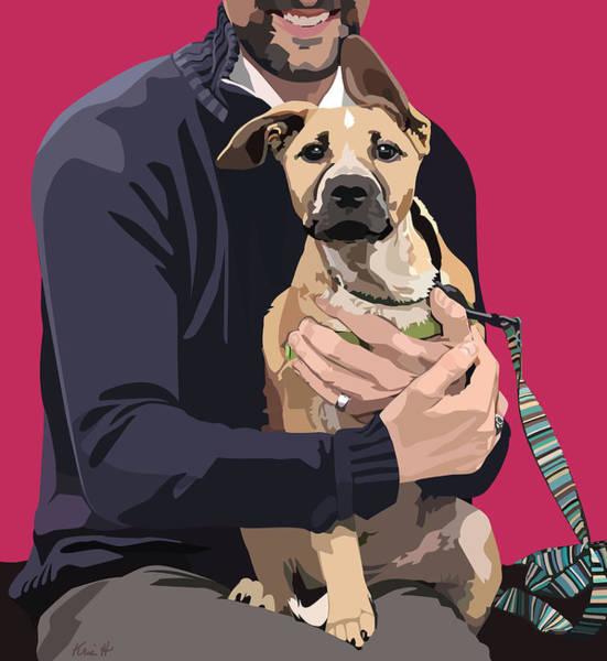 Wall Art - Digital Art - Mixed-breed Puppy by Kris Hackleman