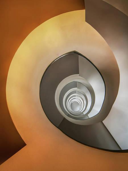 Wall Art - Photograph - Modern Spiral Staircase by Jaroslaw Blaminsky