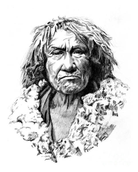 Drawing - Mohave Man by Toon De Zwart