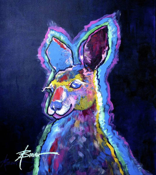 Painting - Mona Lisa 'roo by Adele Bower