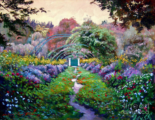 Giverny Painting - Monet by David Lloyd Glover