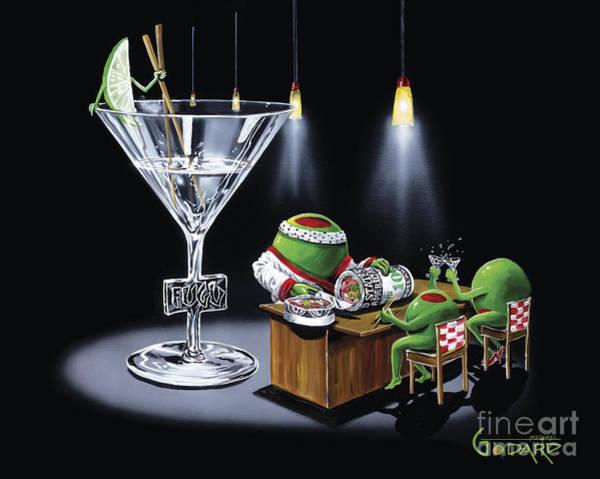 Martini Painting - Money Roll by Michael Godard