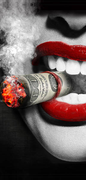 Wall Art - Digital Art - Money To Burn by Canvas Cultures