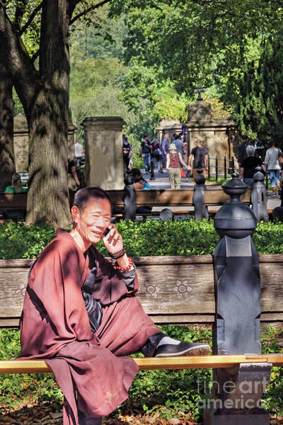 Photograph - Monk In Central Park, New York City  #79520 by John Bald