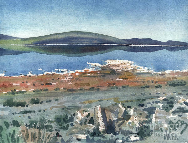 Mono Painting - Mono Lake by Donald Maier