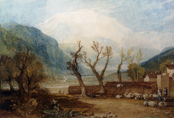 Mont Blanc Wall Art - Painting - Mont Blanc by Joseph Mallord William Turner