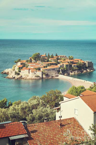 Balkan Peninsula Photograph - Montenegro Sveti Stefan by Antony McAulay