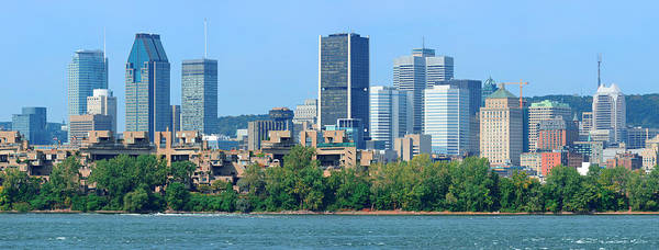 Photograph - Montreal City Skyline Over River Panorama by Songquan Deng