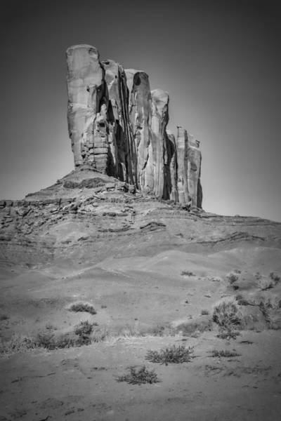 Geologic Formation Photograph - Monument Valley Camel Butte Black And White by Melanie Viola