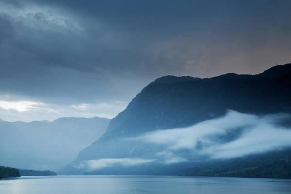 Wall Art - Photograph - Moody Lake Bohinj by Ian Middleton