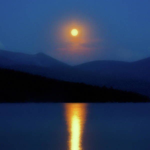 Photograph - Moon Over Priest Lake by David Patterson