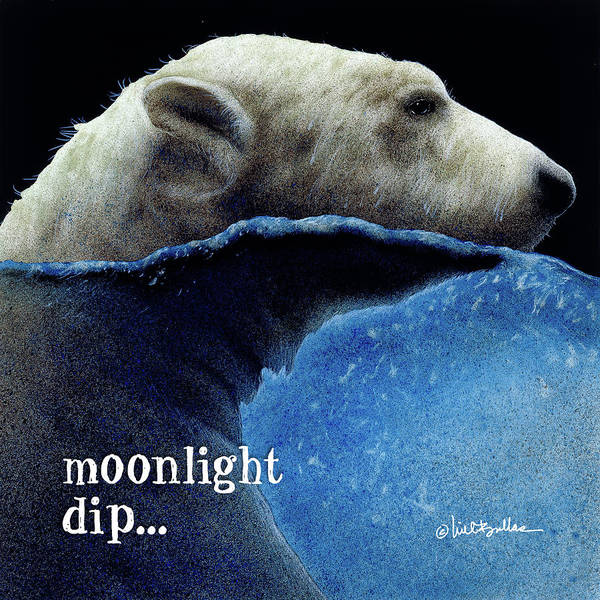 Painting - Moonlight Dip... by Will Bullas