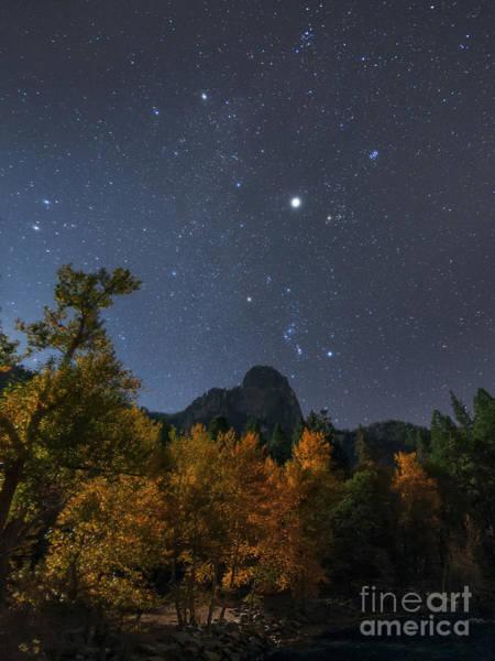 Wall Art - Photograph - Moonlit Night, Constellation Orion by Babak Tafreshi