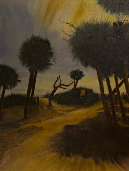 Painting - Moonlit Path by Kathy Knopp