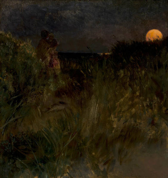 Painting - Moonrise Over The Dunes by Eilif Peterssen