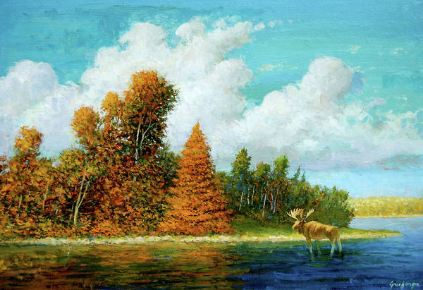 Painting - Moose Country by Mel Greifinger