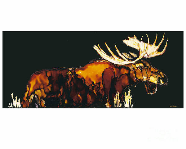 Painting - Moose On The Loose by Jan Killian