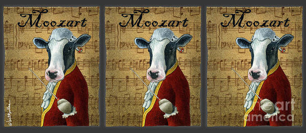 Painting - Moozart... by Will Bullas