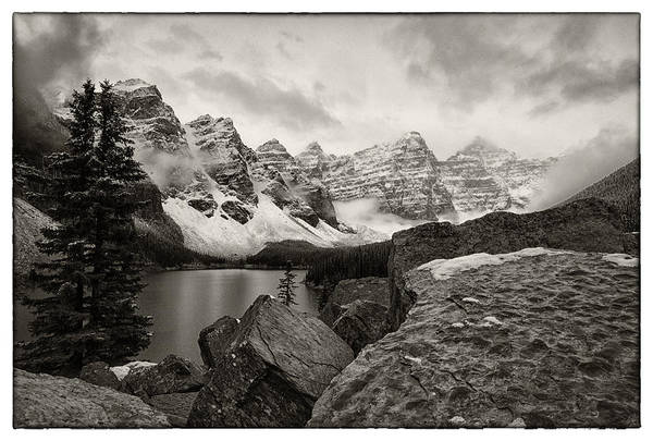 Moraine Lake Photograph - Moraine Lake by Robert Fawcett