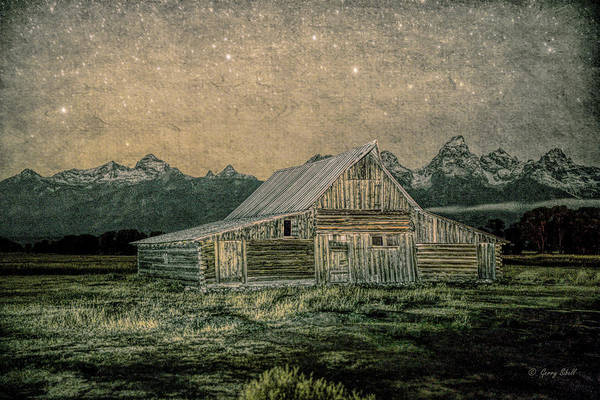 Photograph - Mormon Row Barn With Filter by Gerry Sibell
