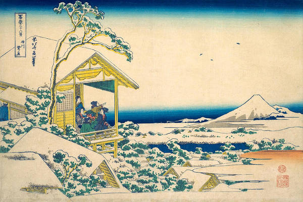 Six Painting - Morning After The Snow At Koishikawa In Edo by Katsushika Hokusai