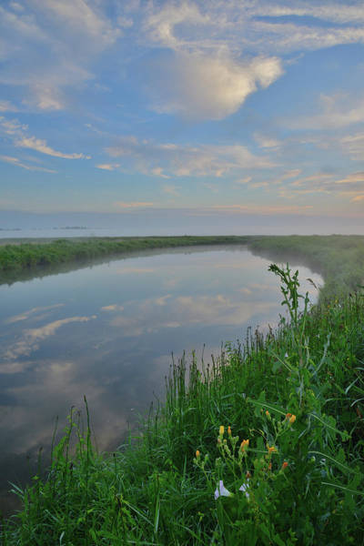 Photograph - Morning Clouds Reflected In Nippersink Creek Of Glacial Park by Ray Mathis