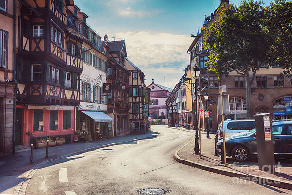 Photograph - morning in Colmar, old medieval town in Alsace region in France by Ariadna De Raadt