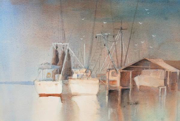 Shrimp Painting - Morning In St. Marys by Robert Yonke