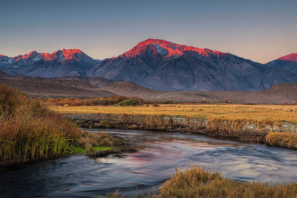 Alpenglow Photograph - Morning In The Sierra Nevada by Andrew Soundarajan