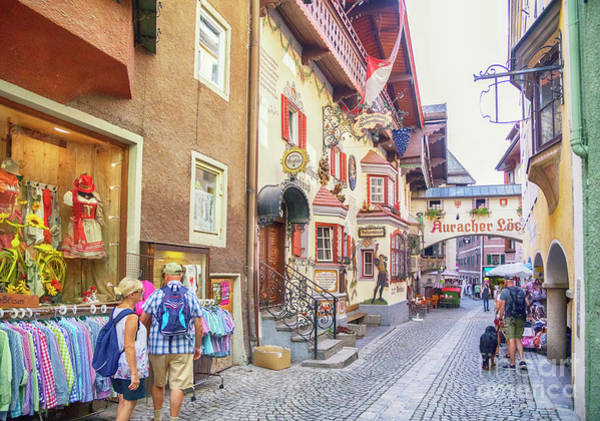 Photograph - morning in town Rottenberg, Tyrol by Ariadna De Raadt