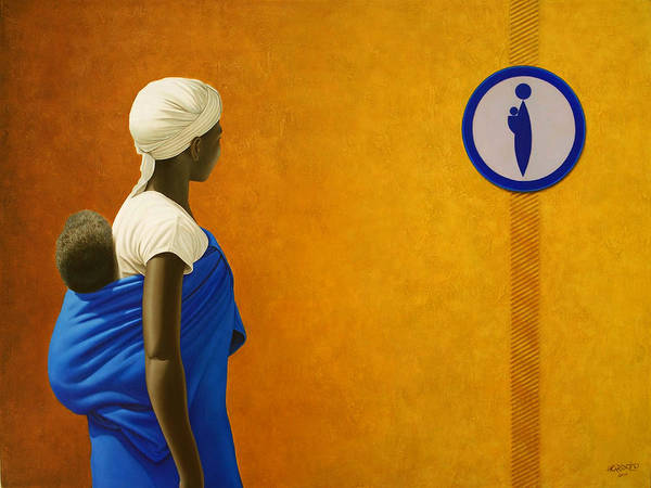 Yellow Ochre Painting - Mother by Horacio Cardozo