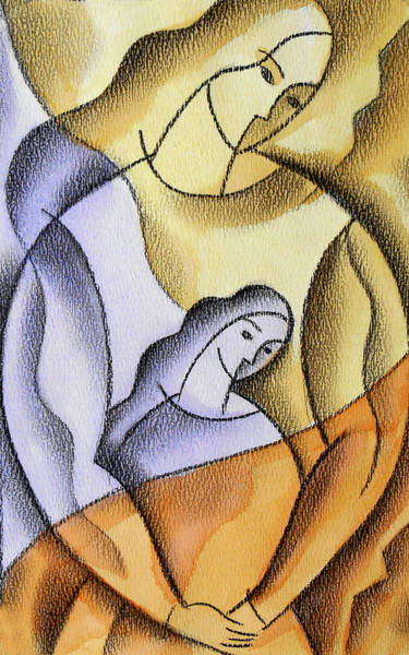 Wall Art - Painting - Mother by Leon Zernitsky