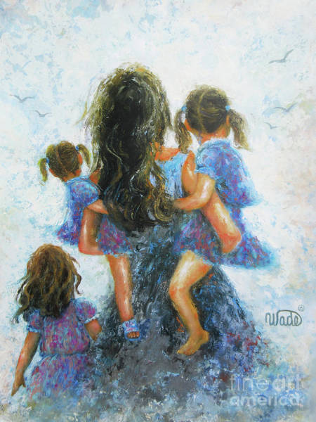 Wall Art - Painting - Mother Three Daughters				 by Vickie Wade