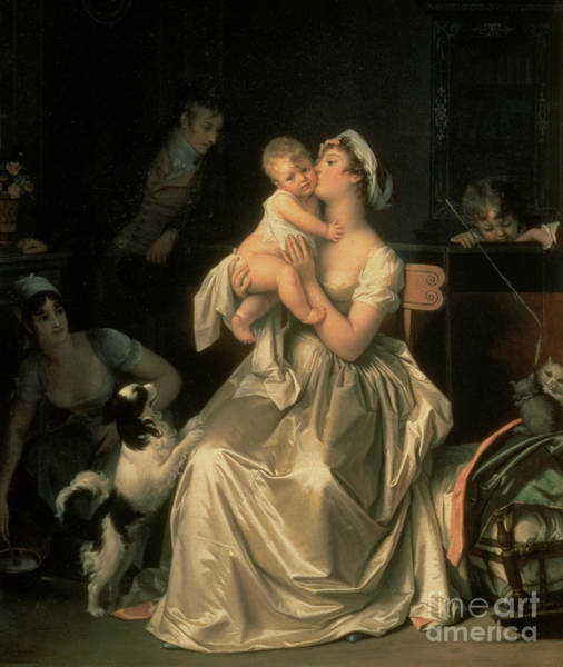 Painting - Motherhood by Marguerite Gerard